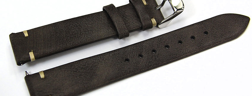 New Genuine Leather 18mm Brown Watch Band