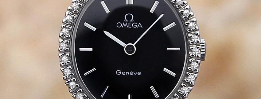 Omega Geneve Diamond Ladies 1970 Manual Watch