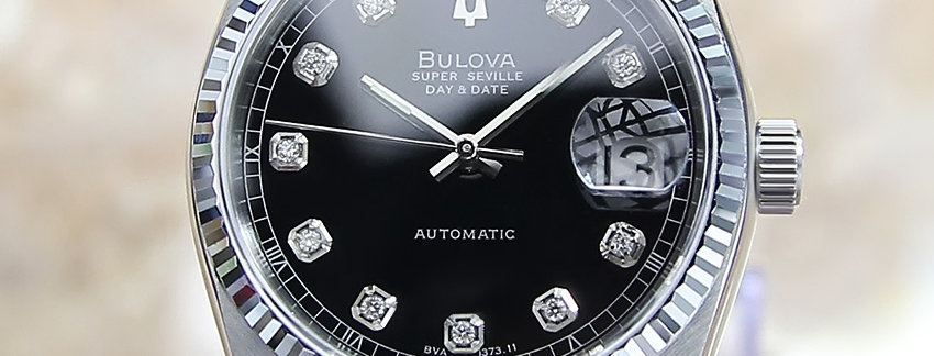 1980 Bulova Super Seville  Diamond Men's Watch