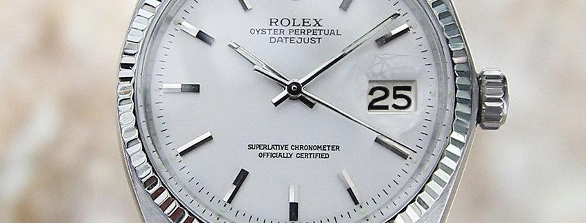 Rolex 1601 Swiss Auto 36mm Gold SS 1965 Men's Watch