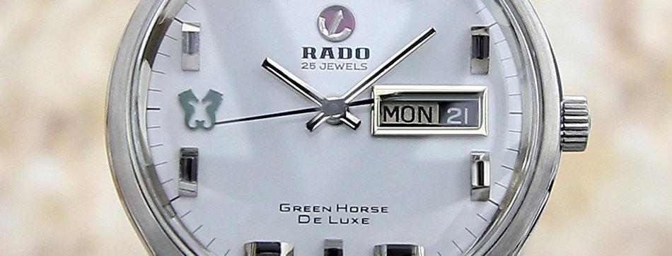 1960 Rado Green Horse De Luxe Watch