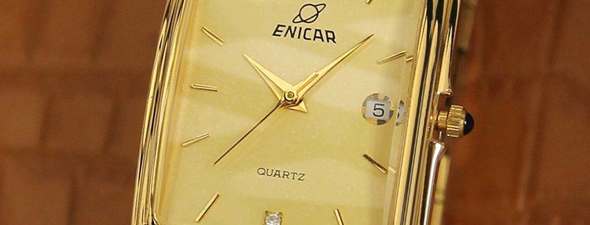Enicar Exquisite Gold Plated Men's Watch