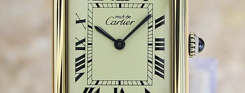 Cartier Must de Cartier Tank Vermeil Manual Watch
