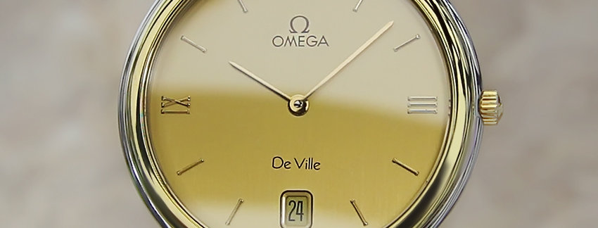 Omega DeVille 18k Gold Men's Watch