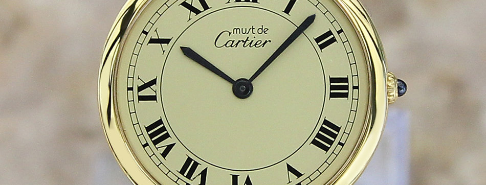 Cartier Must De Cartier Vermeil Watches on Sale