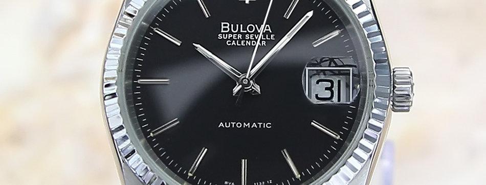 1980's Bulova Super Seville Calendar Watch