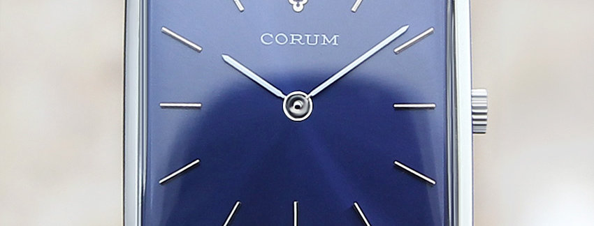 Corum Rare Mens Swiss Luxury Mens SS Manual 1970 Watch
