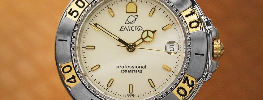 Original 1990s Enicar Exquisite Men's Watch