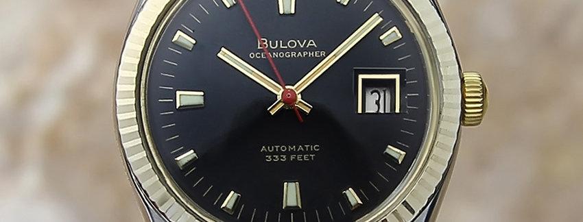 1970 Bulova Oceanographer 333 Men's Watch