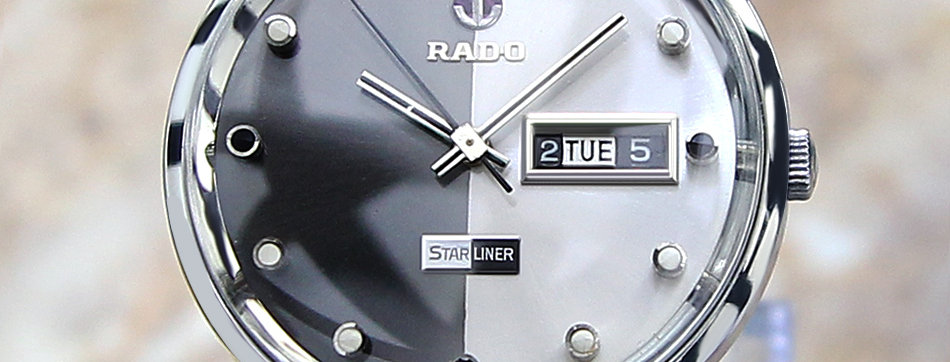 Rado Starliner Daymaster Silver and Black Dial Watch
