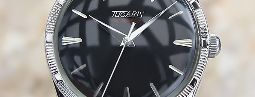Tugaris Swiss Made 1960 Vintage 34mm SS Watch