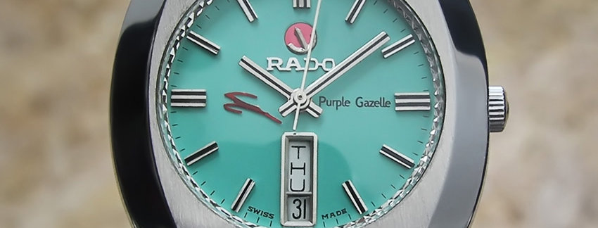 1970s Rado Purple Gazelle Watch