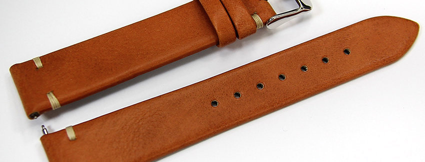 New Tan Genuine Leather 18mm Watch Band