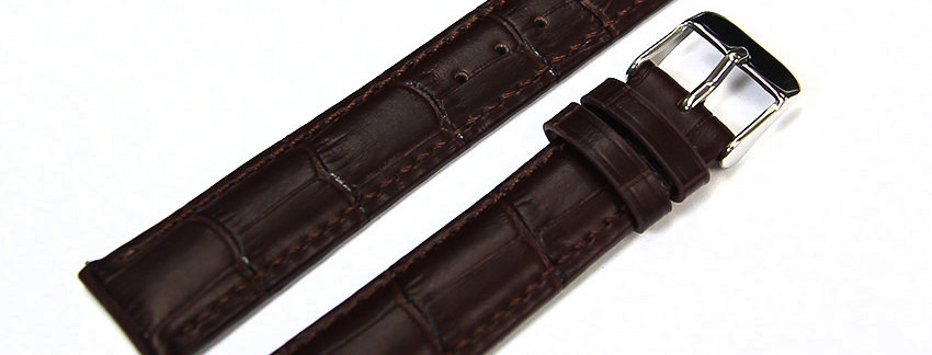 New Brown Genuine Leather 18mm Watch Band