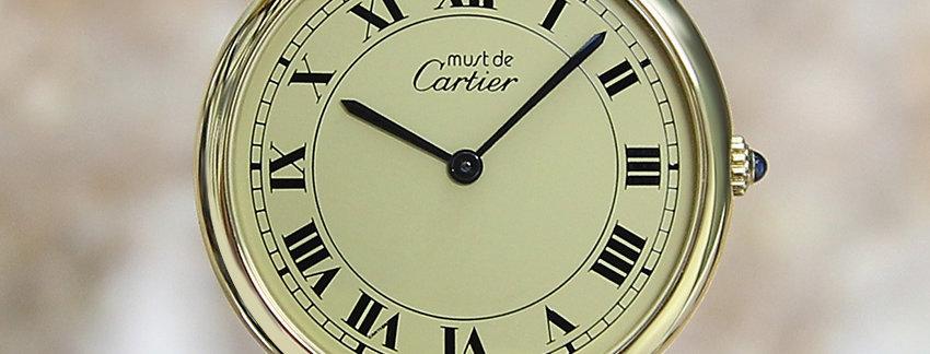 Gold plated Must De Cartier Vermeil Men's Watch