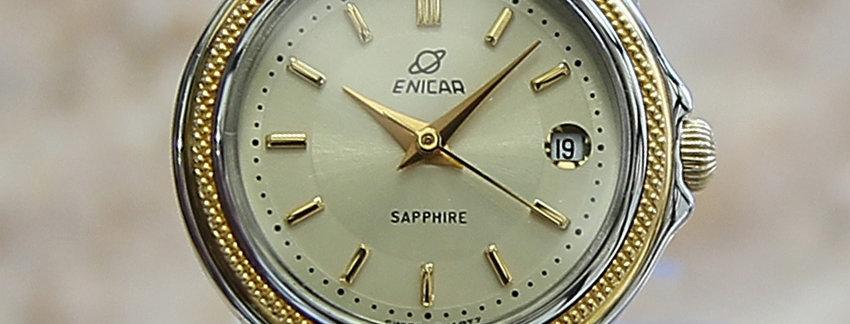 Enicar  Ladies 25mm Swiss Made 1990  Luxury Watch