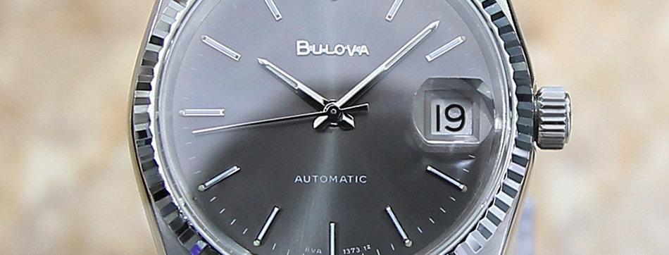 Bulova N9 1980 Vintage Auto Men's Swiss Made Watch