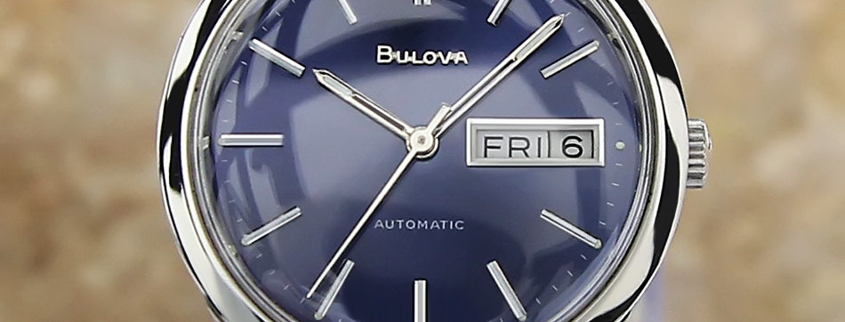 Bulova N8 Blue Dial Watch