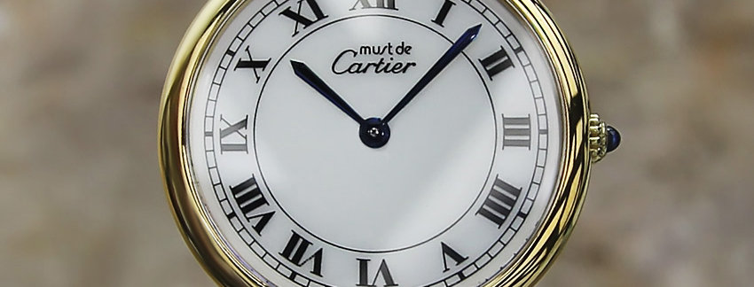 Unisex Must De Cartier Vermeil Men's Watch