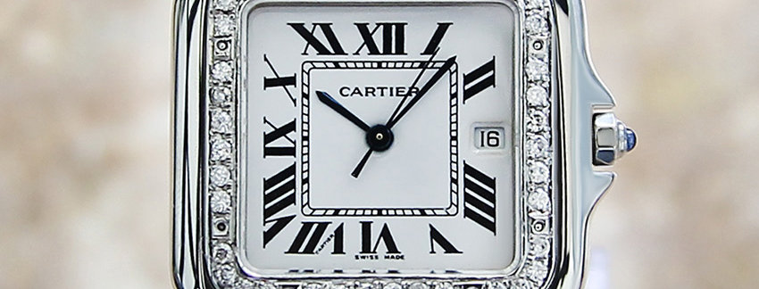 Diamond Studded Cartier Panthere Men's Watch
