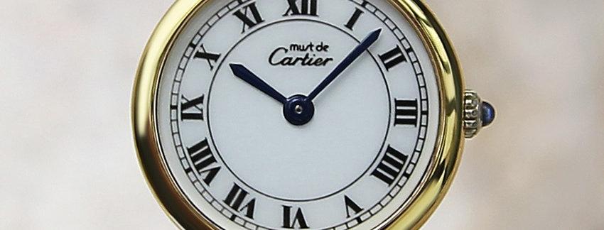 Gold Plated Cartier Must De Vermeil Ladies Watch