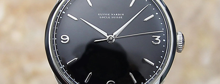 Vintage Ulysse Nardin Black Men's Watch | WatchArtExchange