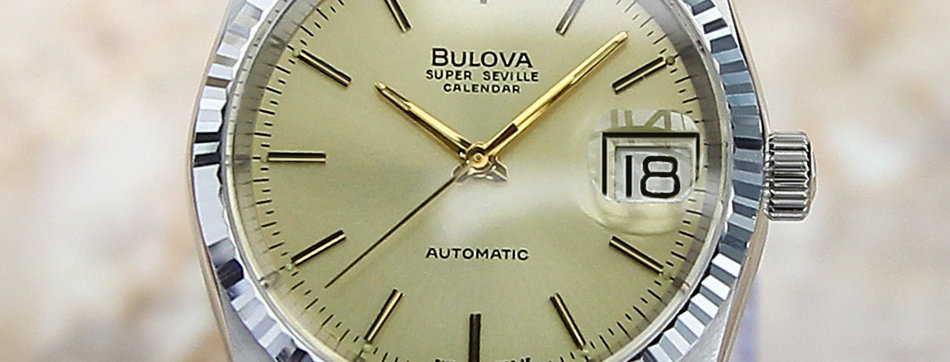 1980's Bulova Super Seville Calendar Watch