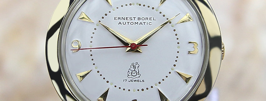 Ernest Borel Auto 1960s Swiss Made Men's Watch