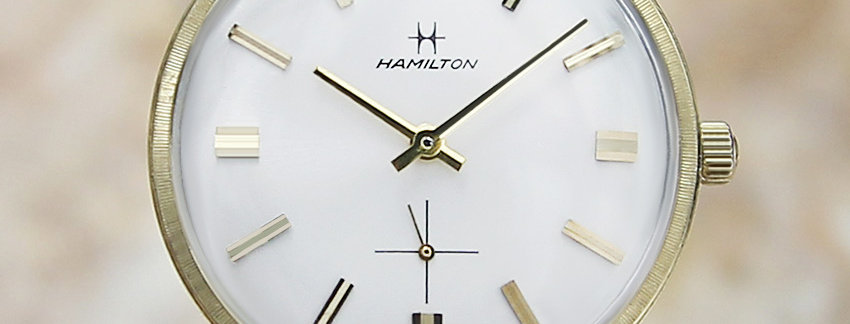 Hamilton Solid 14k Gold Men's Watch