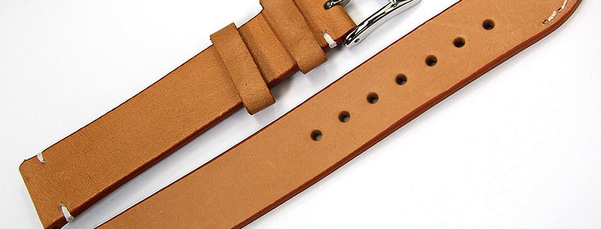 New Genuine Leather 18mm Watch Band - Tan