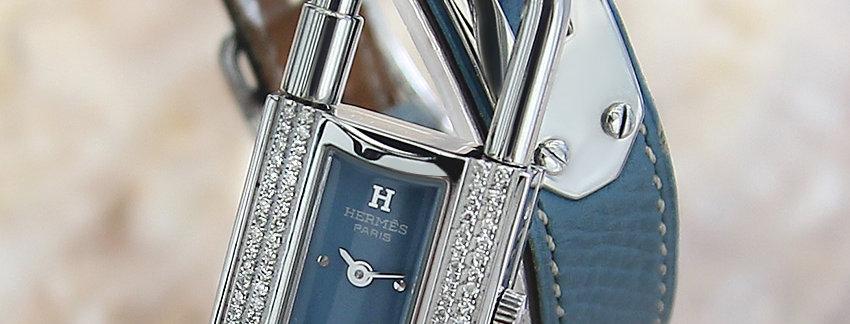 Authentic Hermes Kelly Lock Diamonds  Luxury Watch