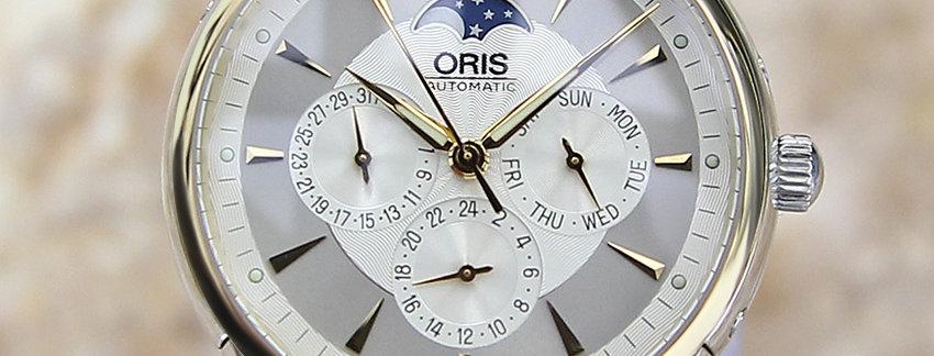 Oris Swiss Made Moonphase  Men's Watch