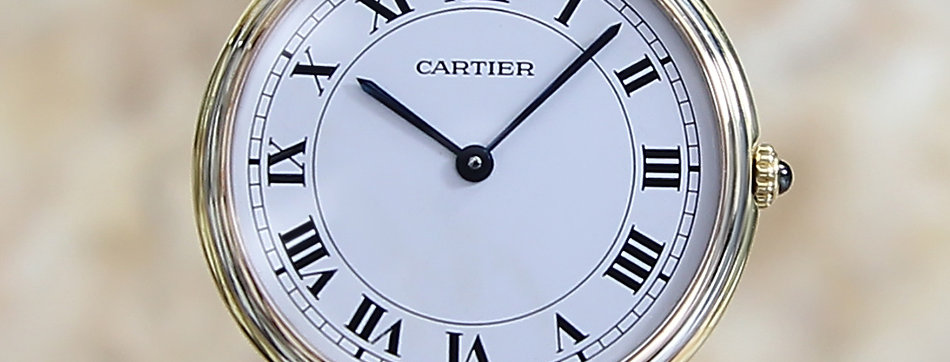 1990 Must de Cartier Paris Trinity Watch