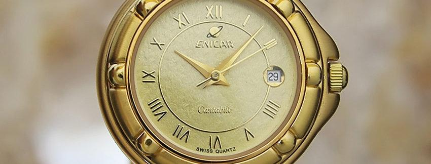 1990s Enicar 27mm Ladies Watch