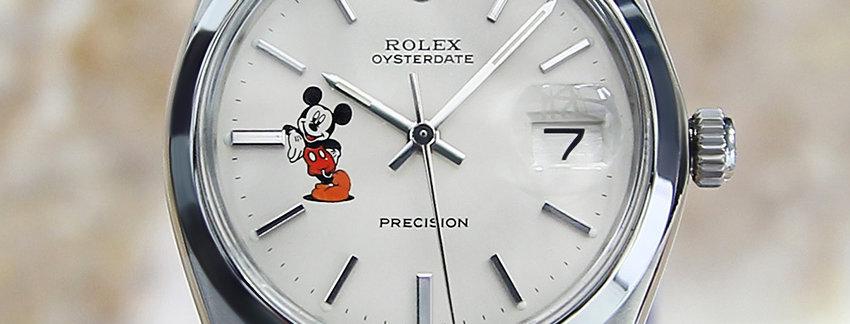 Rolex 6694 Mickey Mouse Motif Men's Watch