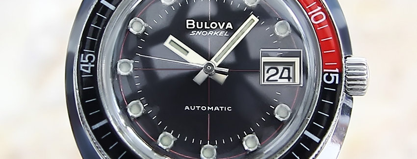 Rare 1968  Bulova Snorkel Men's Vintage  Men's Watch