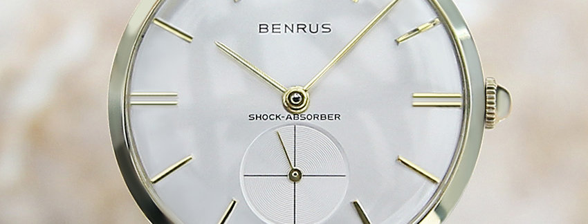 1960s  Benrus 14k Solid Gold Men's Watch