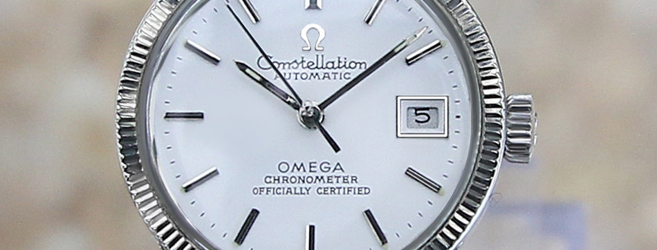 Omega Constellation White Gold Ladies Watch