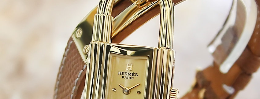 Gold Plated Hermes Kelly Lock  Collectible  Ladies Watch