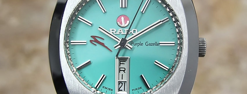 Rado Purple Gazelle Men's 37mm Watch