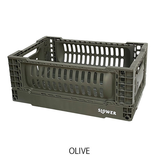 FOLDING CONTAINER BASK (S)/OLIVE