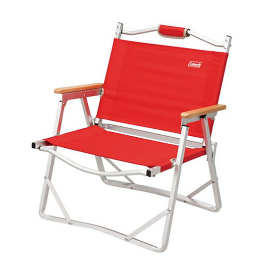 COLEMAN COMPACT FOLDING CHAIR RED
