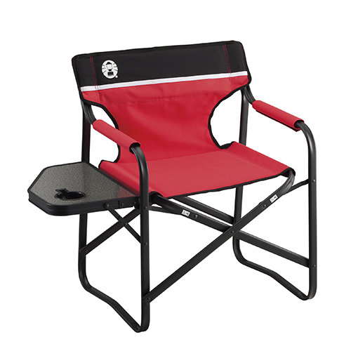 Coleman japan Side Table deck Chair (red)