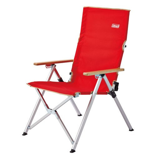 Coleman Lay Chair Red