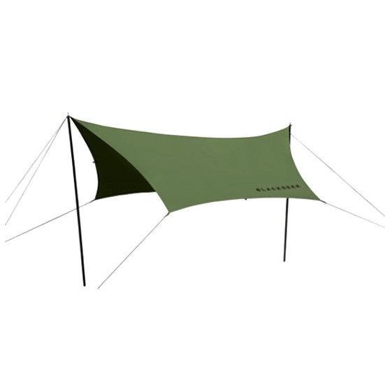 Blackdeer nest cotton hexagon tarp 420 khaki green