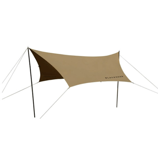 Blackdeer nest cotton hexagon tarp 420 sand brown