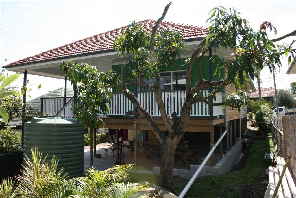 Timber slat balustrade