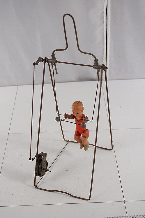 1930s Branko Celluloid Mechanical Acrobat - Wind-up Toy - As