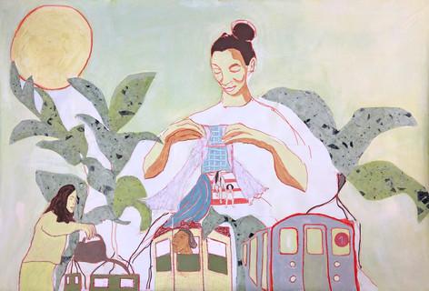 Mural (1 train), 2019