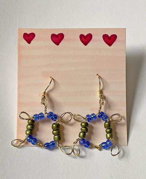 The Sunny Earring in Blue/Green